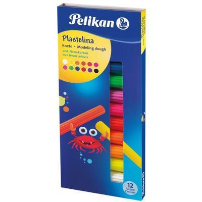 Modelína Pelikan Fluorescentní barvy 12 ks