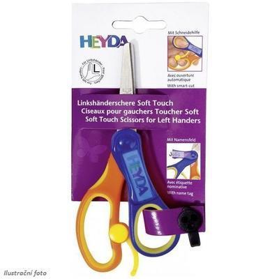 Heyda Dětské nůžky Soft Touch Plus - pro leváka kulaté - 1