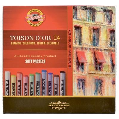 Křídy prašné umělecké Toison D´Or - kulaté 24 ks - 1