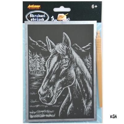 Škrabací obrázek - stříbrný A5 6+ - 1