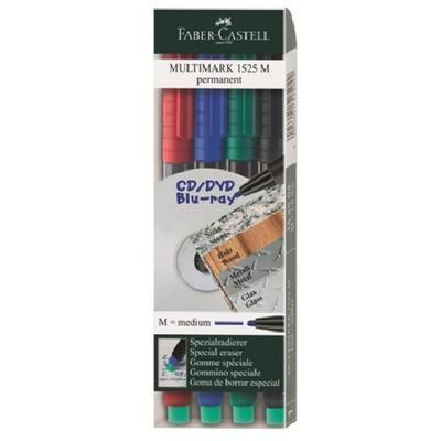Faber-Castell MULTIMARK Permanent M - Popisovač CD/DVD - 4 ks