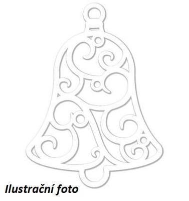 Výřez filigrán - Zvonek 15 cm, 4 ks - 1