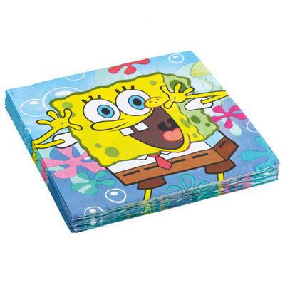 Ubrousky SpongeBob  33x33 cm - 20 ks