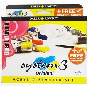 Daler & Rowney - System 3 Original Starter Set 6x22ml