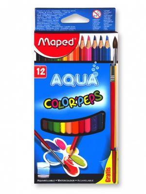 Maped Color´Peps Aqua Pastelky trojhranné Aqua 12 ks + štětec i pro L
