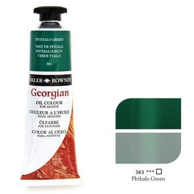 Daler & Rowney Georgian Oil 38ml - Phthalo Green 361, olejová barva - 1