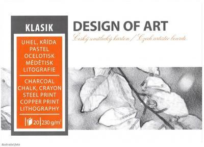 Blok grafický Klasik A4, 230 g/m2, 20 listů