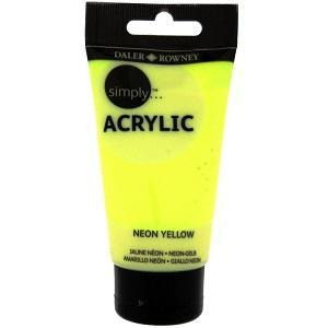 Daler & Rowney Simply Acrylic 75 ml - neon yellow  681 - 1