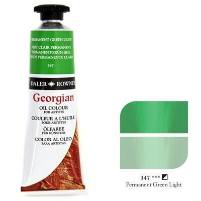 Daler & Rowney Georgian Oil 38ml - Permanent Green Light 347, olejová barva - 1