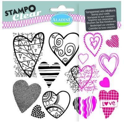 StampoClear Gelová razítka - Srdíčka - 1