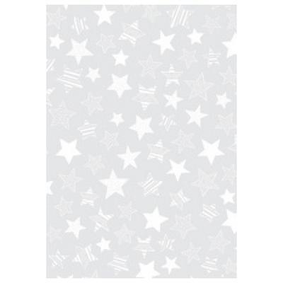 Transparentní papír A4, 115 g/m2 - hvězdy stříbrné