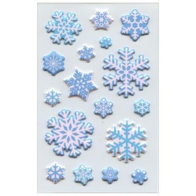 Vánoční etikety - sněhové krystalky / 1 arch