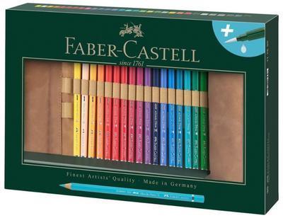 Faber-Castell Pastelky A. Dürer Magnus akvarel, 18ks + příslušenství v rolovacím pouzdře - 1