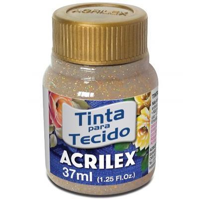 Acrilex Barva na textil 37ml - glitrová zlatá 201 - 1