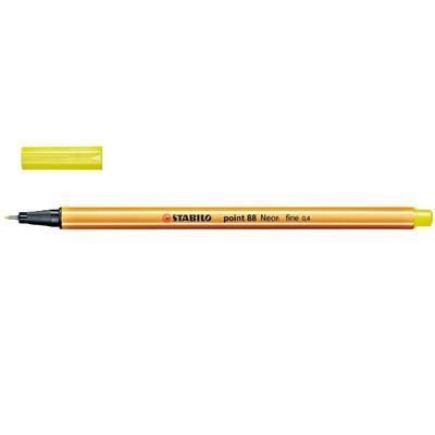 Stabilo Point 88/024 - fluorescentní žlutá - 0,4 mm