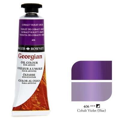 Daler & Rowney Georgian Oil 38ml - Cobalt Violet 406, olejová barva - 1