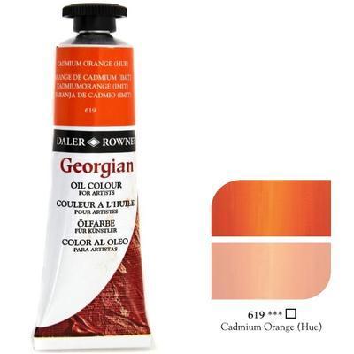 Daler & Rowney Georgian Oil 38ml - Cadmium Orange 619, olejová barva - 1