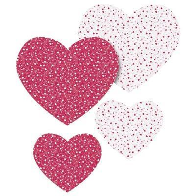 List origami srdce 40ks - červený/bílý - 1