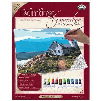 Malování podle čísel s příslušenstvím - Maják - 1
