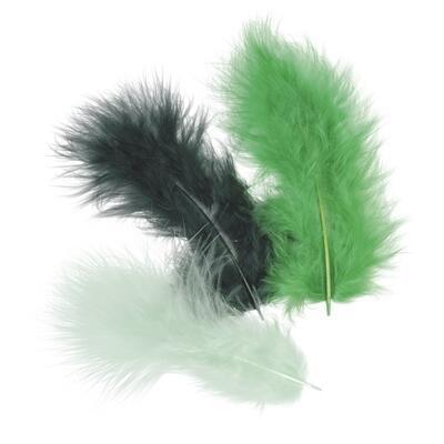 Peří Marabu 10 cm - tmavě zelený mix