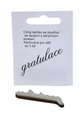 Razítko Cling - Gratulace