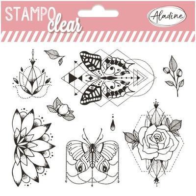 Gelová razítka StampoClear - Motýli v květinách