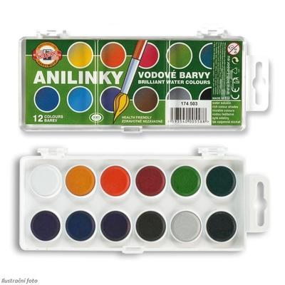 Anilinky Brilantní vodové barvy - 12 ks
