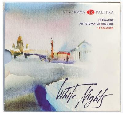 ST PETERSBURG: Sada akvarelů White nights 12 barev - 1