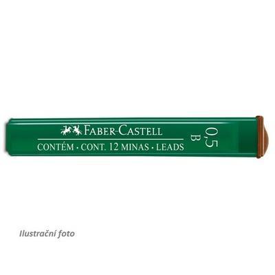 Faber-Castell Mikrotuhy  grafitové - 0,5 mm, B,     12 ks