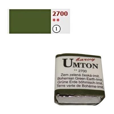 Akvarelová barva 2,6ml - Zem zelená česká imitace - 1