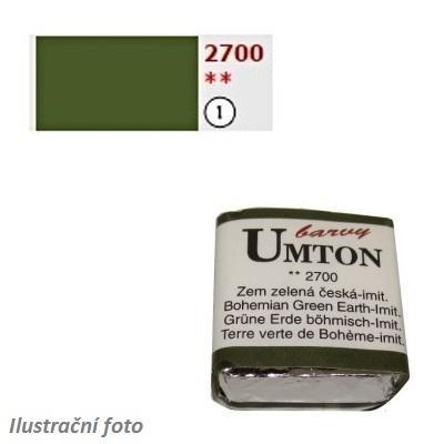 Akvarelová barva 2,6ml - Zem zelená česká imitace/ 1 - 1