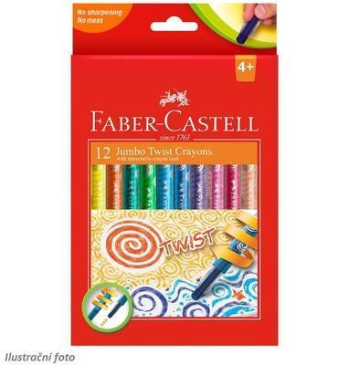 Faber-Castell Voskovky Jumbo Twist - 12ks