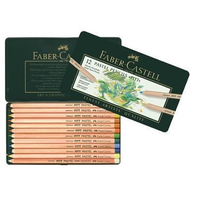 Faber-Castell Pastelky PITT PASTEL - 12 ks v kovové etui - 1