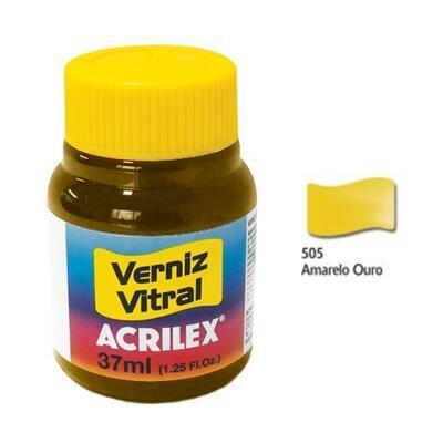 Vitrážová barva ACRILEX 37ml - Gold Yellow - 1
