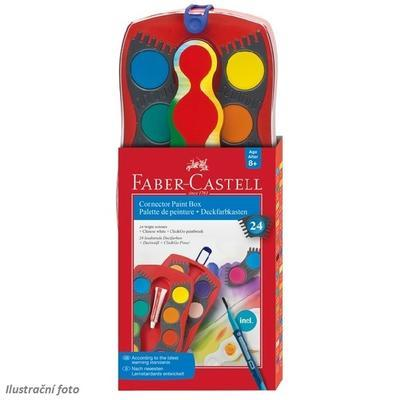 Faber-Castell Vodové barvy Connector 24 barev + bílá krycí - 1