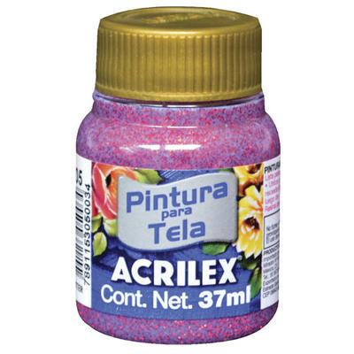 Acrilex Barva na textil 37ml - glitrová červená 205 - 1