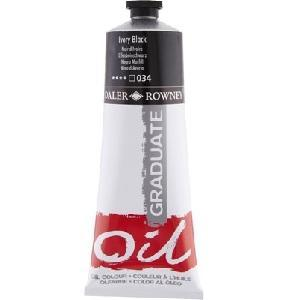 Daler & Rowney Graduate Oil 38 ml - ivory black - 034 - 1