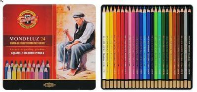 Mondeluz Akvarelové pastelky - 24ks - 1