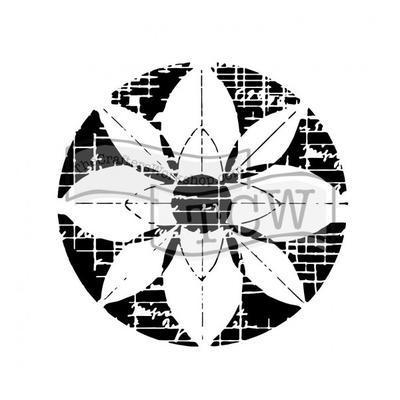 """Šablona TCW 12""""x 12"""" , Flower Grid"""