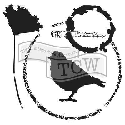 """Šablona TCW 12""""x 12"""" , Thoughtful Bird"""