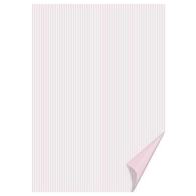 Happy paper A4, 200 g/m2 - pruhovaný růžový