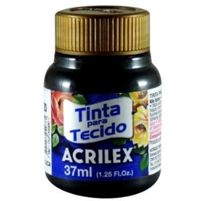 Acrilex Barva na textil 37ml - metalická černá 520 - 1