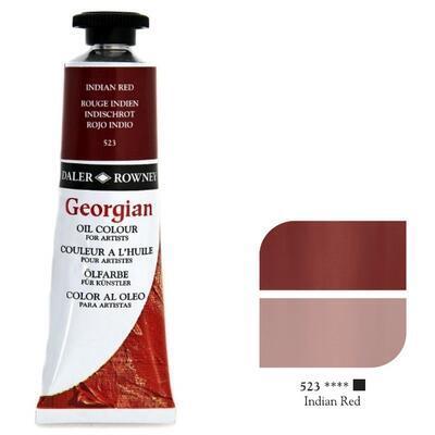 Daler & Rowney Georgian Oil 38ml - Indian Red 523, olejová barva - 1