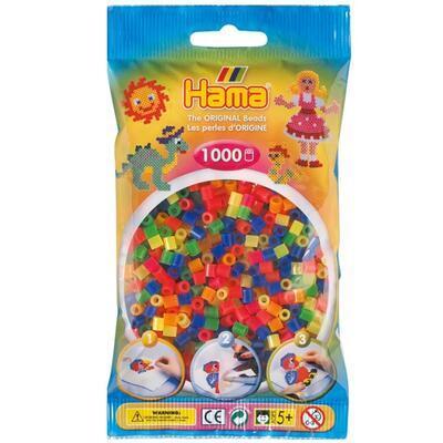 Hama MIDI Zažehlovací korálky 1000 ks - mix neonových barev - 1