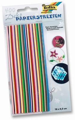 Papírové proužky barevný mix - 400 ks, 160x3mm - 1