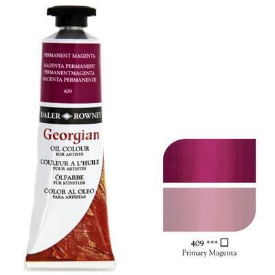Daler & Rowney Georgian Oil 38ml - Primary Magenta 409, olejová barva - 1