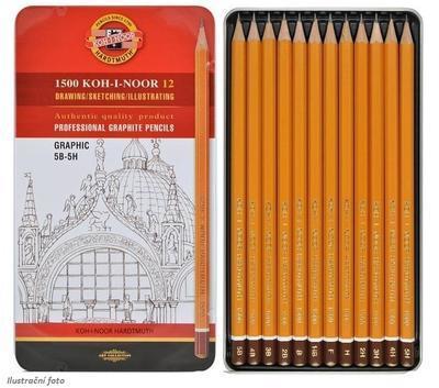 Sada grafitových tužek 1500 GRAPHIC - 12ks, 5B - 5H - 1
