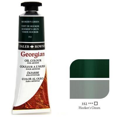 Daler & Rowney Georgian Oil 38ml - Hooker´s Green 352, olejová barva - 1