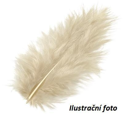 Peří Marabu 10 cm - pískové