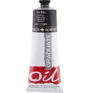 Daler & Rowney Graduate Oil 200 ml - ivory black 034 - 1